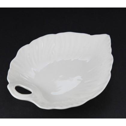 Leeds Pottery, Leaf Design Sweets Plate, Hartley Greens Creamware