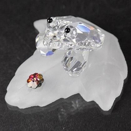 Crystal Frog Figurine