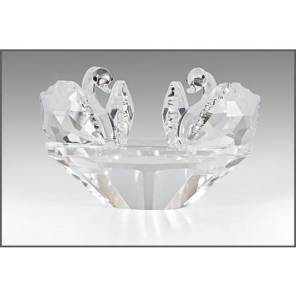 Crystal Figurine, Pair of Swans