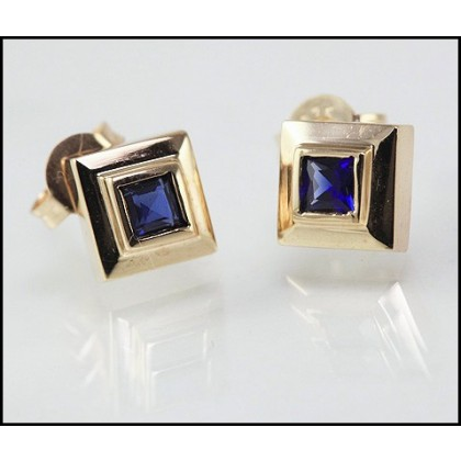 Sapphire Pendant and Earring Set 9ct Solid Gold