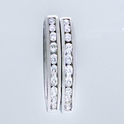 Moissanite Diamond Hughies 18ct White Gold Earrings