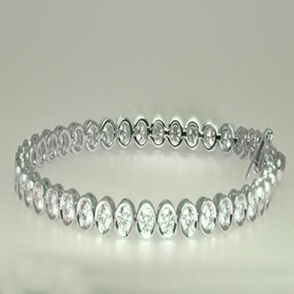 Moissanite Diamond Tennis Bracelete 18 ct White Gold