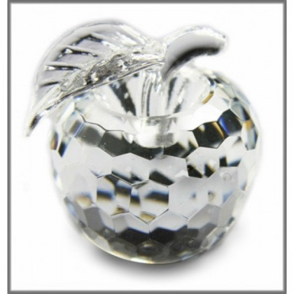 Crystal Apple Ornament (Medium)