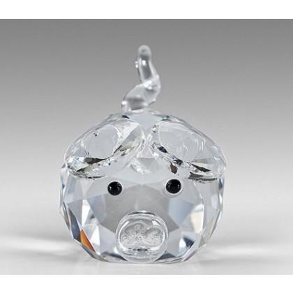 Miniature Crystal Pig Figurines