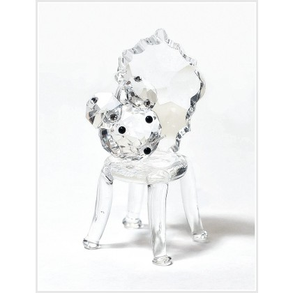 Crystal Sitting Mouse on Chair Figurine