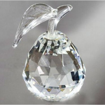 Crystal Pear Figurine