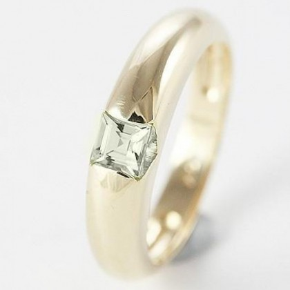 Solid 9ct Gold Cubic Zirconia Dome Ring