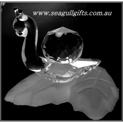 Crystal Garden Snail Ornament