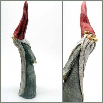 Handpainted Polyresin Magical Wizard Figurine