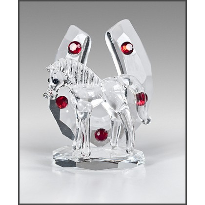 Crystal Ornament Horse with Shoe