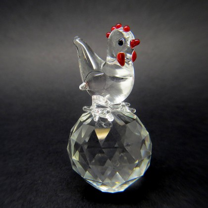 Crystal Rooster Chicken Figurine