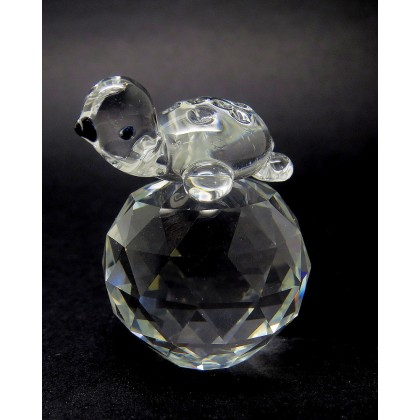 Crystal Baby Turtle Figurine