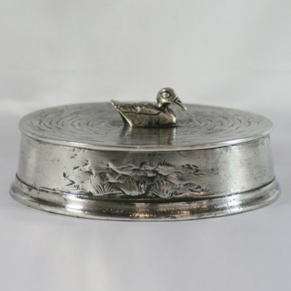 Duck Trinket Box Solid Pewter, Made In Italy, Men's Gift