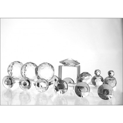Crystal Train Set Ornament