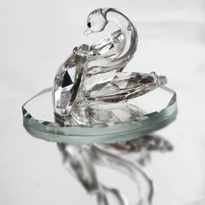 Crystal Swan on Mirror Ornament