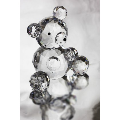 Crystal Teddy Bear  Ornament, Solid Crystal Figurine
