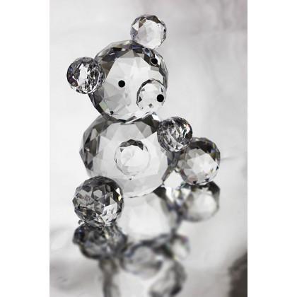 Crystal Teddy Bear  Ornament, Solid Crystal Figurine