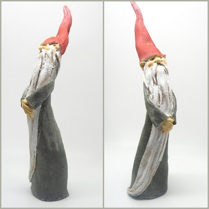 Larger Handpainted Polyresin Magical Wizard Figurine