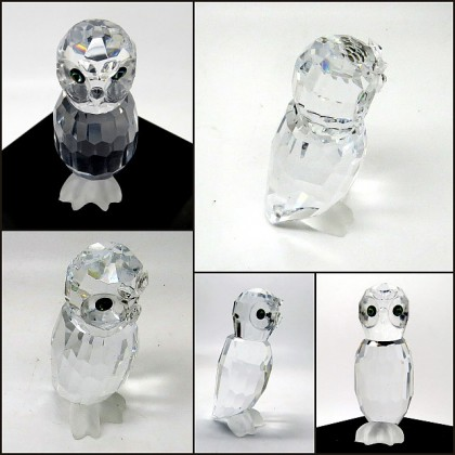 Crystal Tall Wise Owl Figurine
