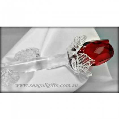 Red Crystal Rose Ornament