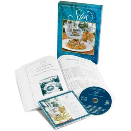Spa Cook Book with Relaxed Piano Music CD, Boxed Gift Set