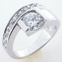 Sterling Silver Ring Cubic Zirconia Wedding Band