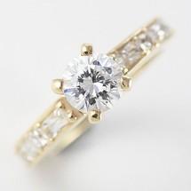9ct Gold Jewelry, Diamond Engagement Wedding Ring Set