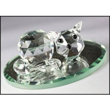 Crystal Cat Ornament