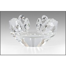 Crystal Figurine, Pair of Swans