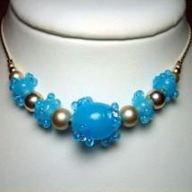 Loading image - Designer Necklace Fashion Jewellery by Janart, Fused Art  Glass