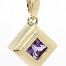 Loading image - 9ct Yellow Gold Amethyst Pendant