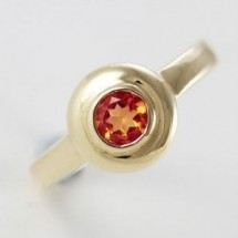 Loading image - Antique Design, 9ct Gold Round Garnet Dress Ring