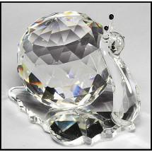 Loading image - Crystal Snail Crystal Ornament Figurine
