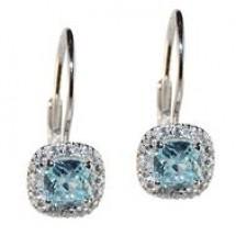 Aquamarine Earrings 925 Sterling Silver