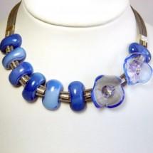 Janart Designer Jewelry, Art Glass Necklace