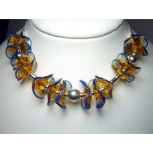 Designer Necklace Handcrafted Fused Glass Jewelry