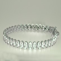 Loading image - Moissanite Diamond Tennis Bracelete 18 ct White Gold