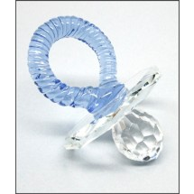 Loading image - Crystal Boy Pacifier Ornament  (Blue)