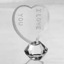 Loading image - Crystal Heart - With Love -