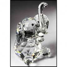 Loading image - Crystal Sitting Elephant Ornament (Large)