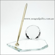 Crystal Desk Set with Crystal Picture Frame