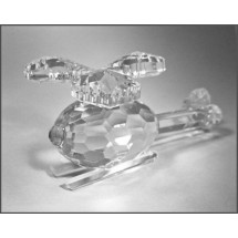 Crystal Helicopter Figurine