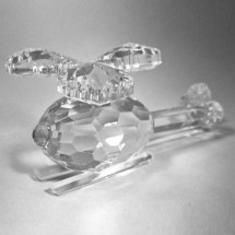 Crystal Helicopter Ornament