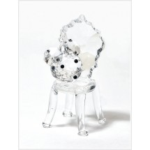 Loading image - Crystal Sitting Mouse on Chair Figurine