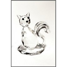 Crystal Sitting Cat Ornament