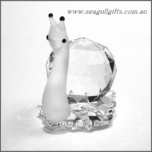 Crystal Snail Figurine