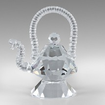 Loading image - Crystal Teapot Ornament Figurine