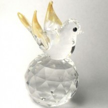 Loading image - Crystal Gold Bird Figurines