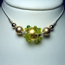 Loading image - Designer Necklace, Jewellery by JanArt Fused Glass and Sterling Silver