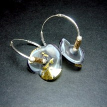 Loading image - Designer Earrings, Fused Glass and Sterling Silver